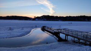 Ice swimming in Turku Finland 1