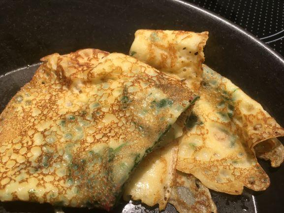 Nettle pancakes