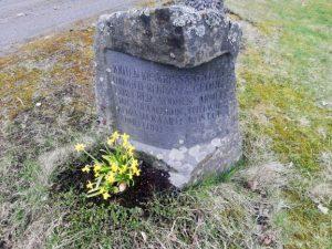 Juote tavern memorial stone