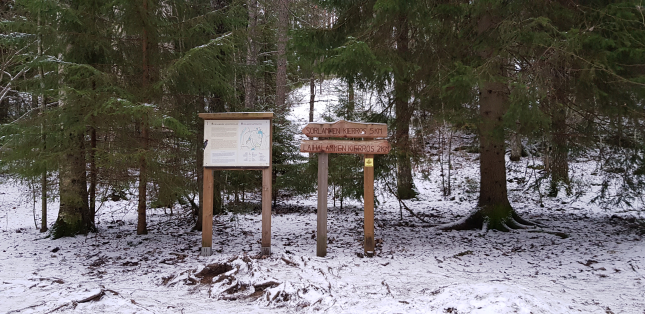 Sorlampi trail-head at Nuuksio