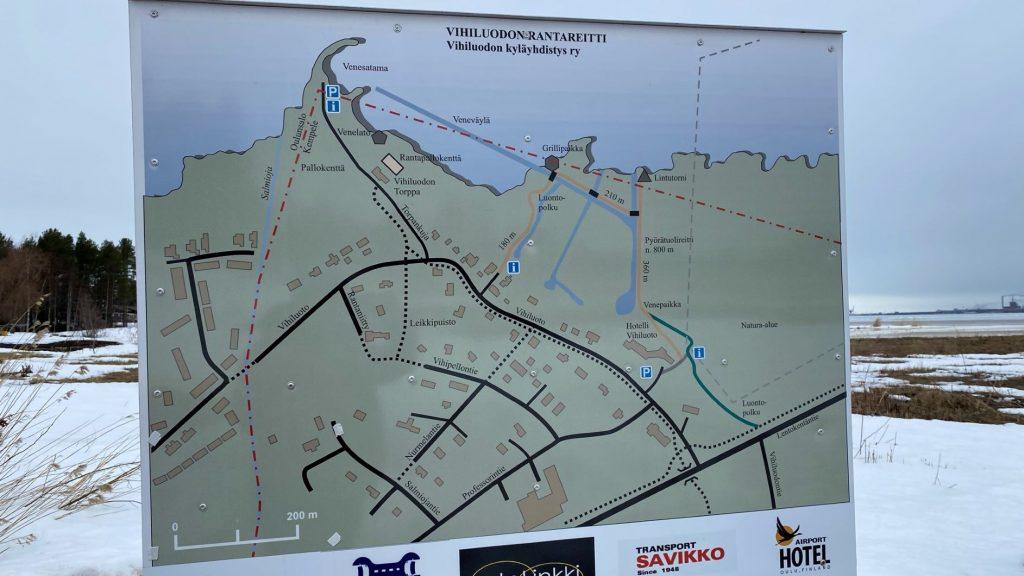 Vihiluoto trail map
