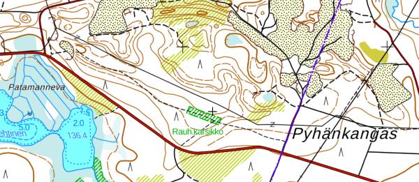 Map of Pyhäkangas karsikko