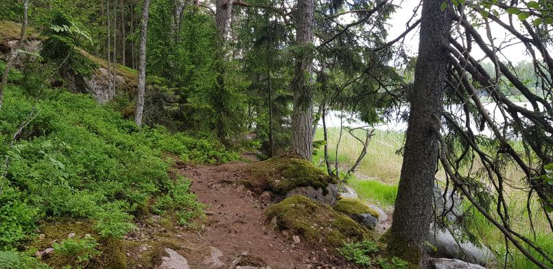 Hiking route at Talosaari Husö in Östersundom, Helsinki