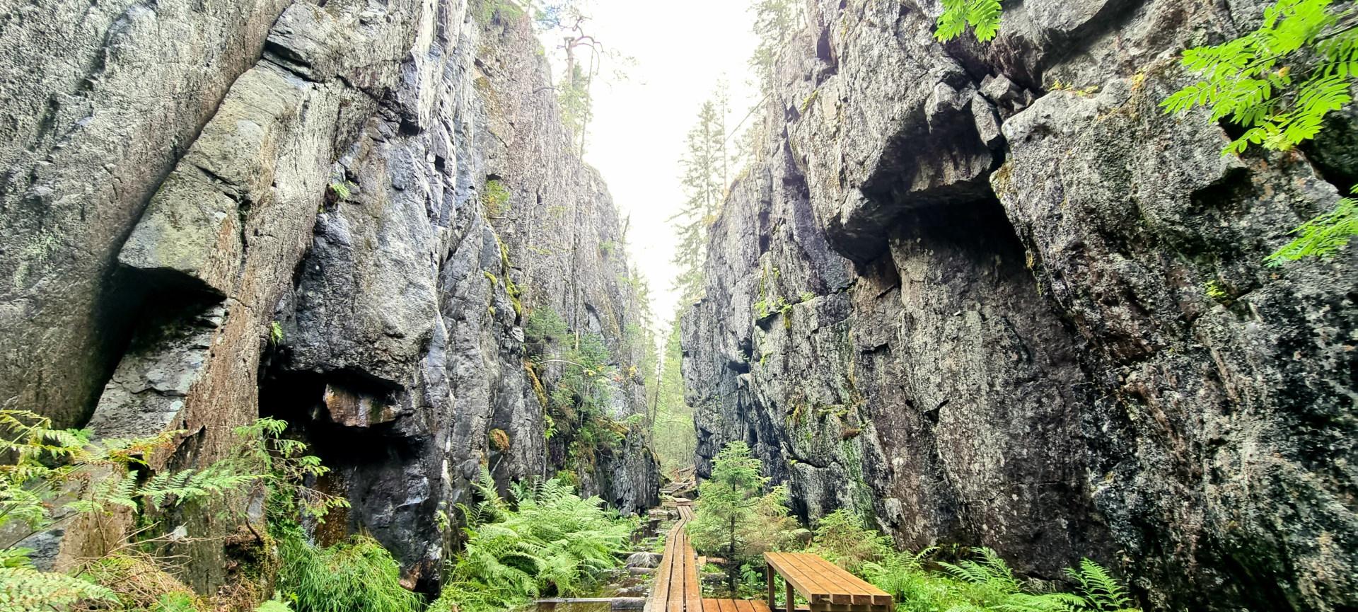 Orinoron rotko Leppävirta Mustinmäen kylä. Orinoro gorge at Leppävirta